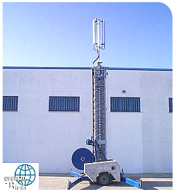 mobile telescopic mast - Set up for handling construction